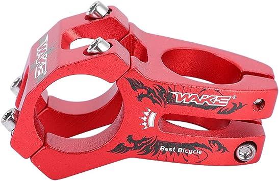 Vástago de Bicicleta Corto de Manillar, 31.8mm Potencia para Bicicleta Montaña Elevador de Vástago de Manillar Bar Stem Tallo de Barra para Bicicleta de Carretera Ciclismo MTB BMX Fixie Gear (Rojo): Amazon.es: