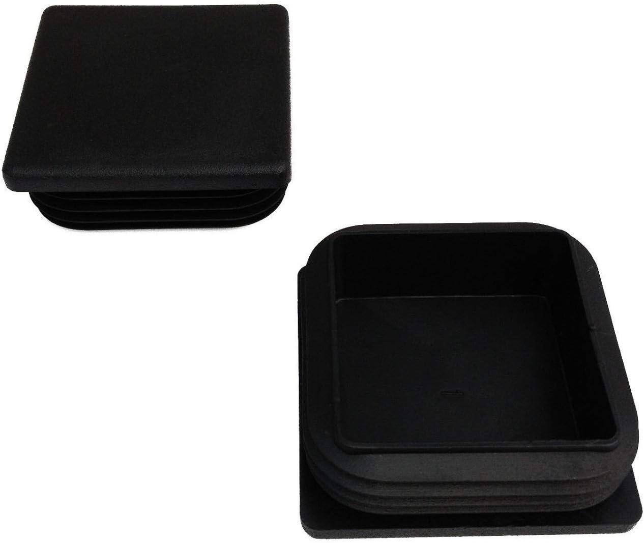 WS 1,5-2,5 mm Quantit/é 10 Bouchon de tuyau carr/é en noir VK 40 x 40 mm
