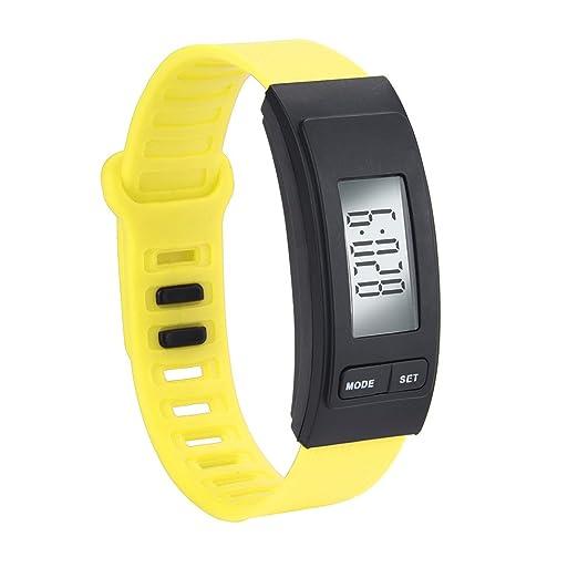 Dylung Reloj Hodómetro para Mujer Reloj de Pulsera Deportivo Inteligente Digital Multifunciónal Cuarzo Relojes de Moda Silicona de Contador de Pasos Cálculo ...