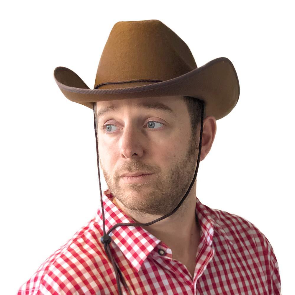 PARTY DISCOUNT SPARPACK  Hut Cowboy Classic Filz, braun 24 Stk. B00OKNXU28 Hüte & Kopfbedeckungen für Erwachsene Fuxin   Für Ihre Wahl