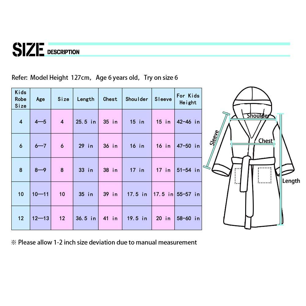 Girls Bathrobe Fleece Sleepwear Hooded Sleep Robe for Girl Party QtGirl Unicorn Kids Robe