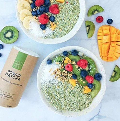 Your Superfoods Organic Vegan Power Matcha - Green Tea Energy Superfood Mix - High In Antioxidants and Natural Caffeine - Energy Boosting Smoothy while Improving Focus