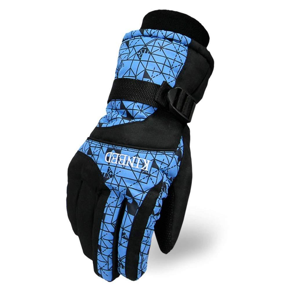 Rouoi Ski Gloves Adult Men And Women Waterproof Wear-Resistant Warm Riding Gloves
