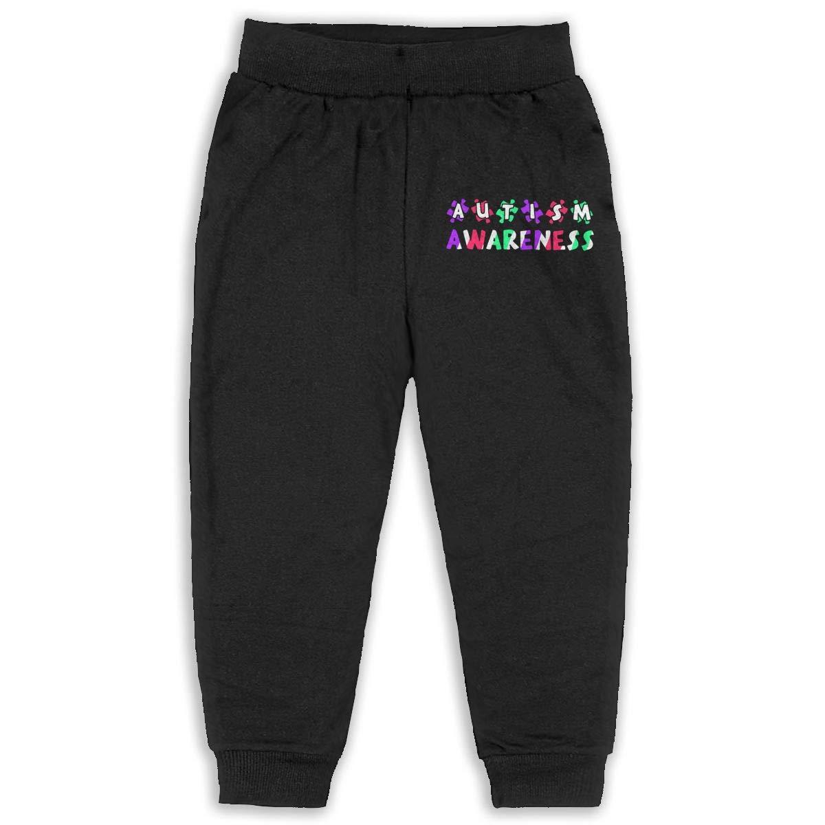 ELCW37K Kids /& Toddler Pants Soft Cozy Baby Sweatpants Autism Awareness Fleece Pants Jogger Pants