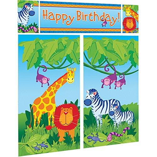 Party Discount Scene Setters Jungle Animals, 5 Pcs. ()