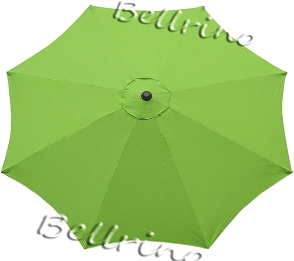 """BELLRINO DECOR Replacement SAGE GREEN"""" STRONG AND THICK"""" Umbrella Canopy for 9ft 8 Ribs SAGE GREEN (Canopy Only)"""