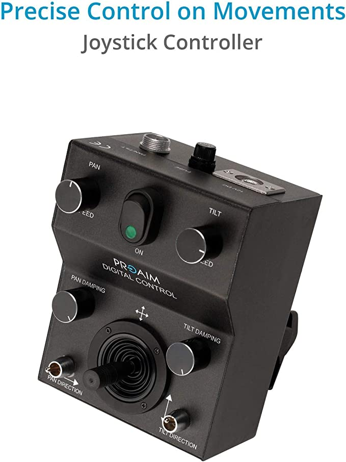 PROAIM Gold Camera Pan Tilt Head with 12V Joystick Control Motorized Pan Tilt Head for Jib Crane Tripod DV Video DSLR PT-Gold