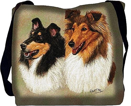 Pure Country Weavers - Collie Hand Finished Large Woven Tote Bag Made in the USA Perfect Decor Gift for Mother Daughter Father Son Him Her