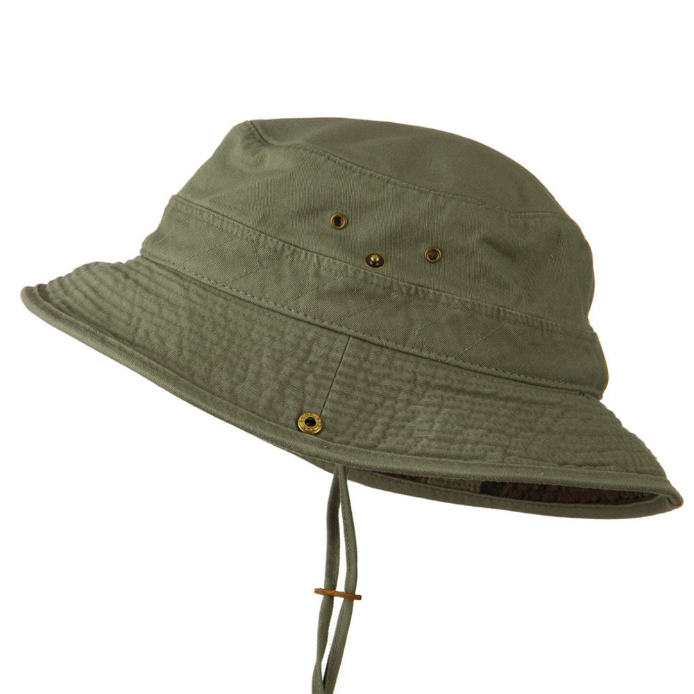 3a8e27b40e337a Big Size Camouflaged Brim Cotton Washed Bucket Hat - Olive (for Big Head)  at Amazon Men's Clothing store: