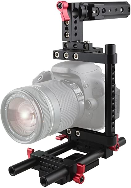 Camvate Kamera Käfig Rig Top Griff Stativanschluss Kamera