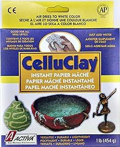 ACTIVA CelluClay Instant Papier Mache, 1 pound, White
