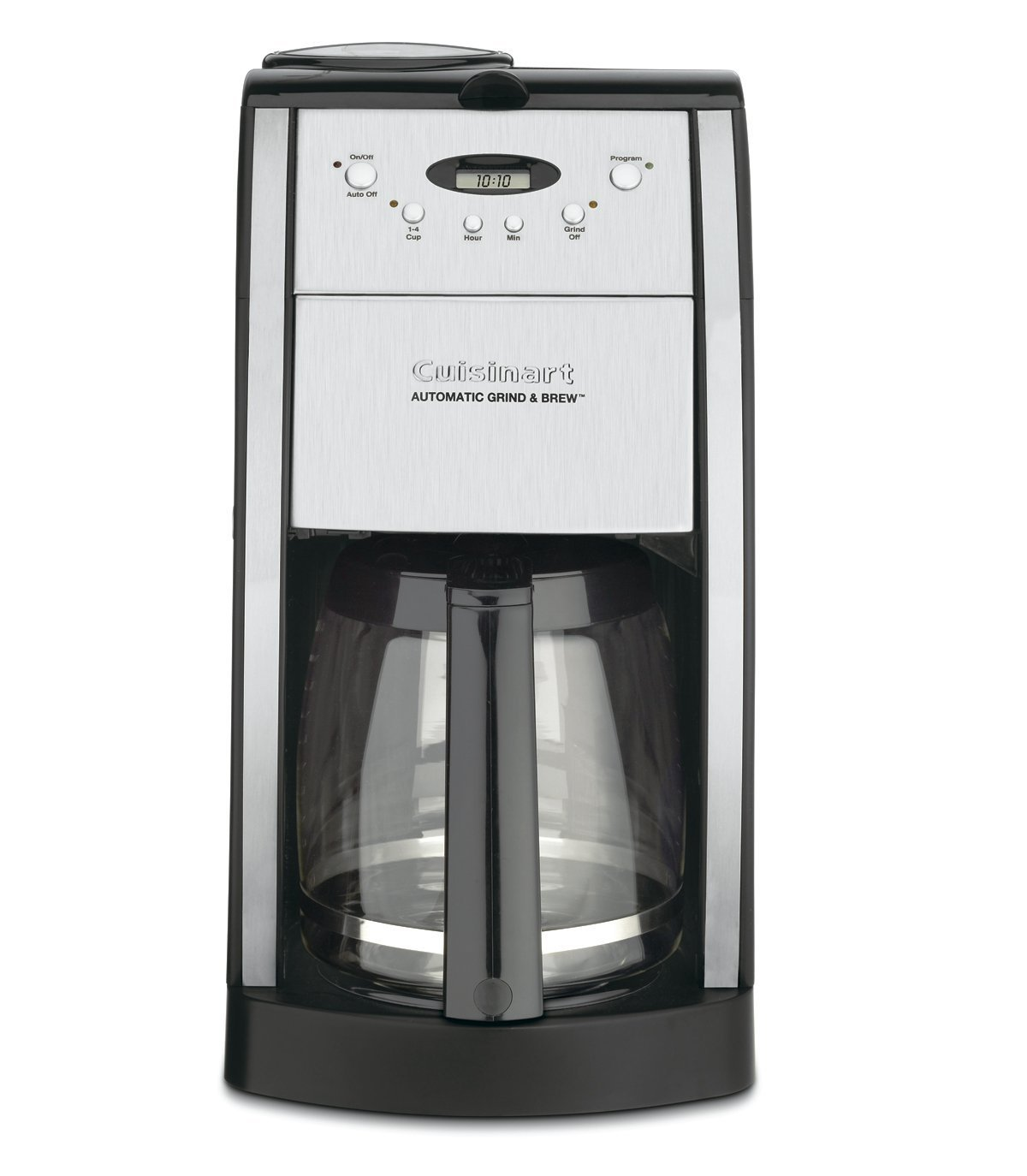 Cuisinart DGB-550BKFR 12 Cup Grind and Brew Automatic Coffee Maker (Certified Refurbished), Chrome by Cuisinart