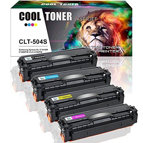 Cool Toner 4 Packs Compatible Samsung CLT-K504S CLT-C504S CLT-Y504S CLT-M504S Toner Cartridge For Samsung Xpress SL-C1860FW Printer