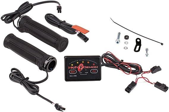Amazon.com: Heat Demon 215047 Dual Zone ATV Clamp-On Heated Grip Kit:  AutomotiveAmazon.com