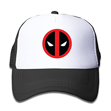 423f7fcee48c4 Sport Deadpool Logo 2016 Movie Kids Trucker Cap Hat Boys Girls Adjustable  One Size By JAC8I  Amazon.co.uk  Clothing