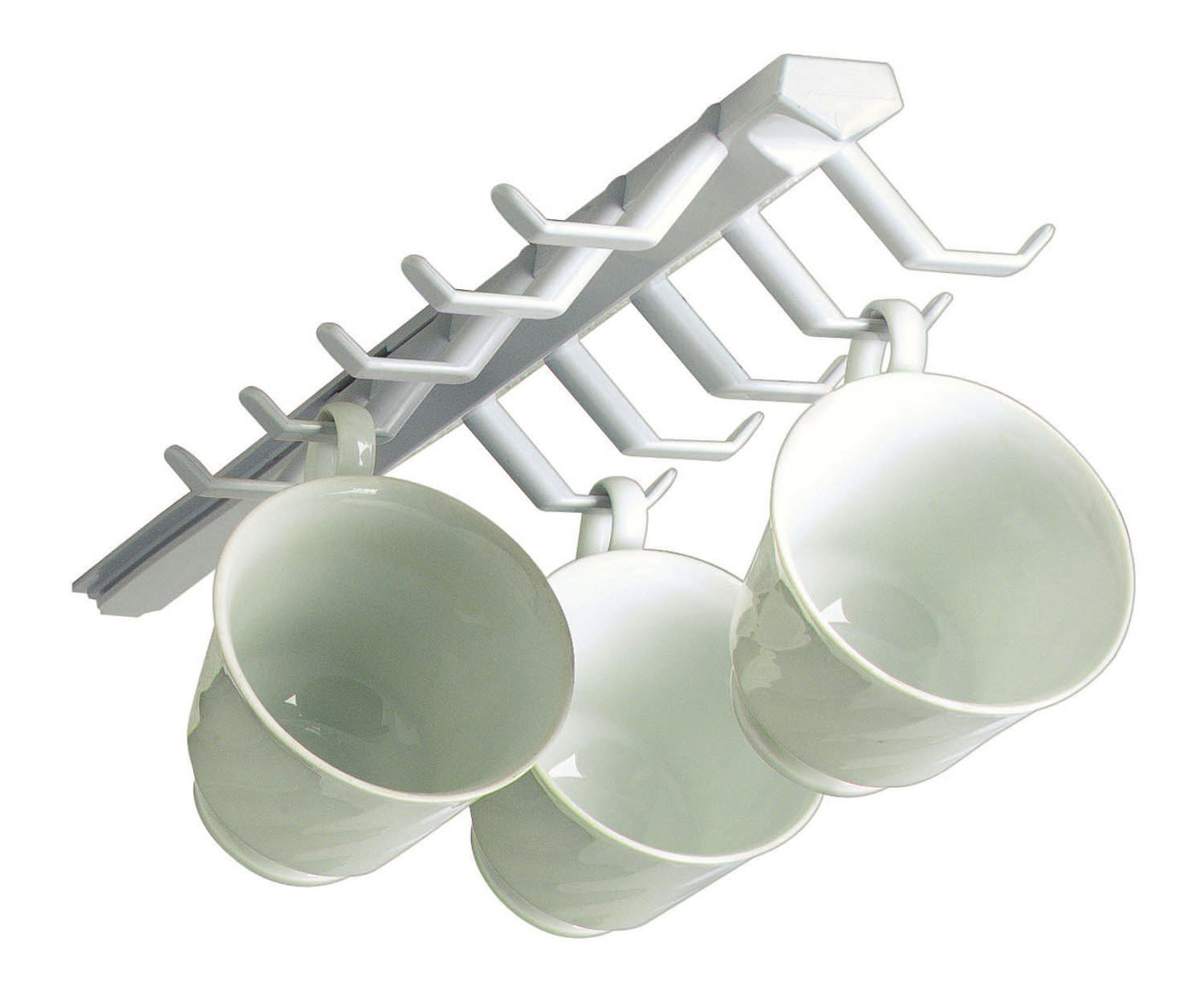 Spectrum Diversified 34100 White Sliding Cup Rack (Pack of 2) Spectrum Diversified Designs 34100-2