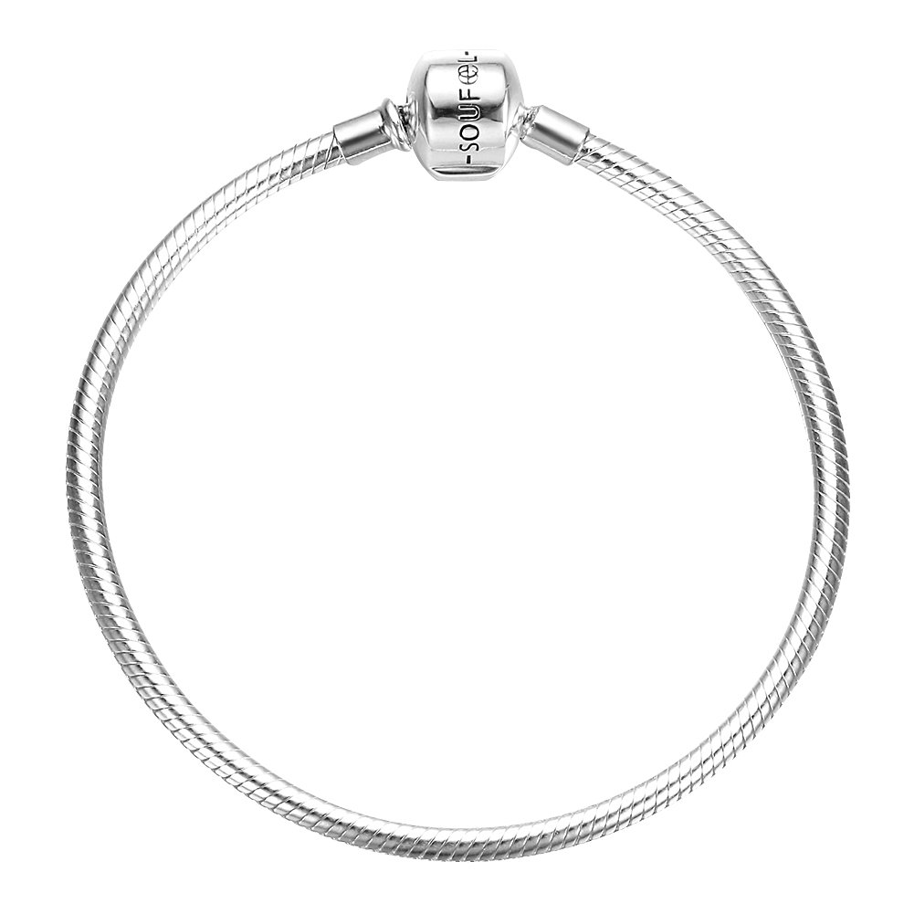Soufeel Exclusive 925 Sterling Silver Basic Charm Bracelet,7.1 Inch Unforgettable Gifts on Mother's Day