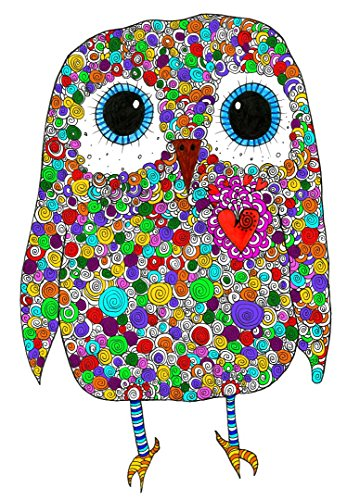 (Cute and Colorful Owl All-Occasion Note Cards and Greeting Cards - 12-Pack with Envelopes)