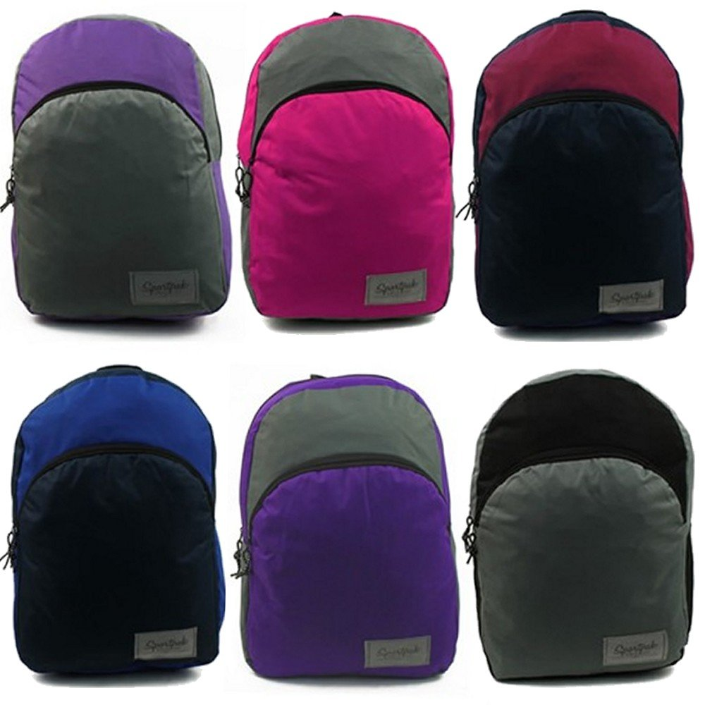 Wholesale 17'' Backpacks in 6 Colors - Case of 48 by SPORTPAK