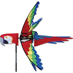 Premier Kites 27 in. Scarlet Macaw Spinner