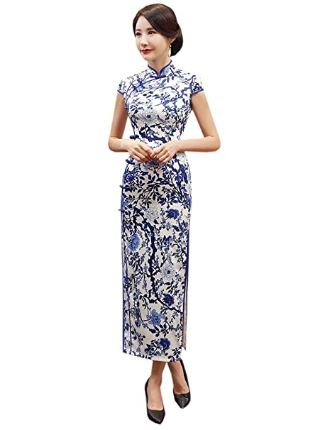 Amazon.com: yuelian Womens Verano Oriental Qipao de largo ...