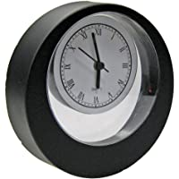 Reila Reloj de Sobremesa Excéntrico, Negro Brillante, 4x15x15
