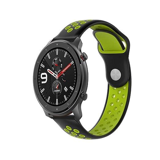 SHSH Correa de repuesto para reloj deportivo de AMAZFIT GTR ...