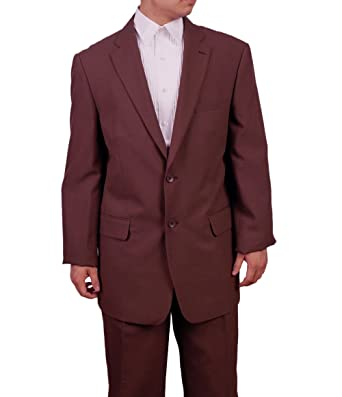 7f23a28cfaac New Era Factory Outlet Mens 2 Button Brown Dress Suit (50 Long) at ...