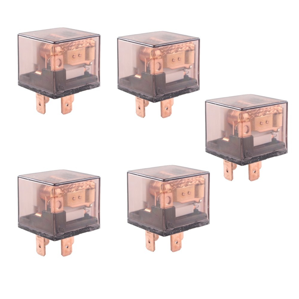 E Support Car Relay 12v 80a Spst 4pin Pack Of 5 Cxr80a04b Idle 4 Pin Automotive