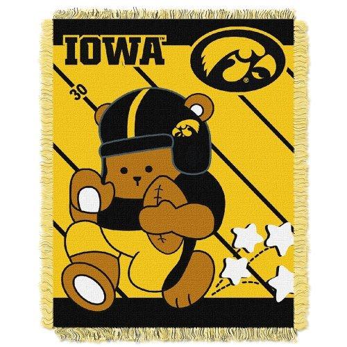 Northwest COL 044 NCAA Iowa Hawkeyes Fullback Woven Jacquard Baby Throw Blanket, - Comforter Full Hawkeyes Iowa