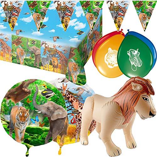 55 Piezas. Set de decoración de Safari para cumpleaños ...