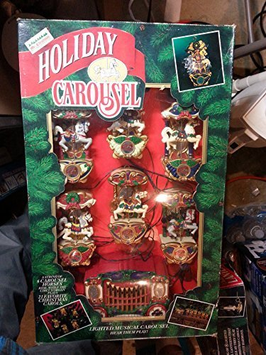 - Mr. Christmas Musical Holiday Carousel String of Six Carousel Horses and Control Box by Mr. Christmas