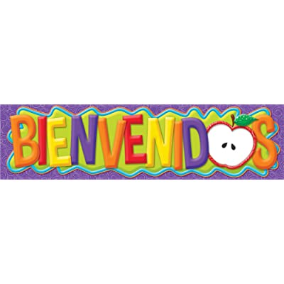 Eureka Classroom Banners, Color My World Spanish Welcome - Horizontal : Office Products