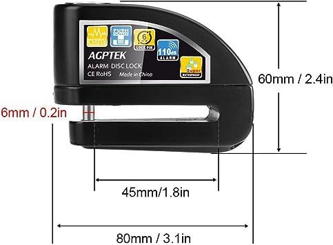 Agptek Brake Disc Lock For Motorcycle And Bicycle Elektronik