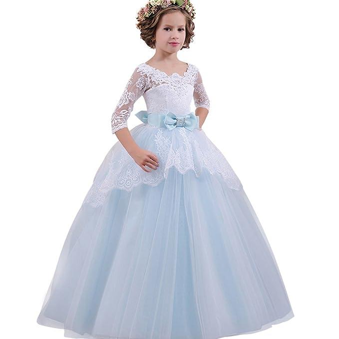 8440a480716b Weant Vestito Damigella Bambina Vestito Cerimonia Bambina Ragazze Di Estate Abito  Abito Formale Abbigliamento Abito Pizzo Vestito Da Principessa Vestito Da  ...