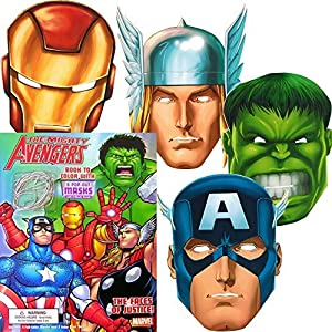 marvel avengers coloring book with 6 avengers masks pop out the incredible hulk thor iron man captain america and more - Avengers Coloring Book