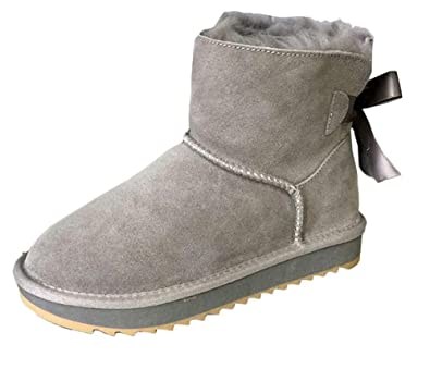 SK Studio Femme Hiver Cuir Chaussures Antidérapante Chaud