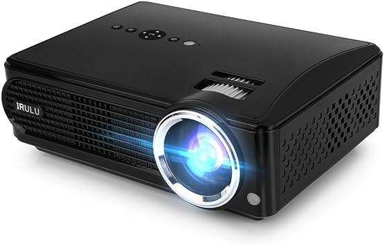iRULU P4 LED Proyector de vídeo HD Home Proyector de Apoyo ...