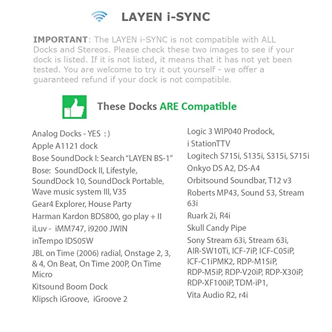 LAYEN i-SYNC Bluetooth Wireless Audio Adapter Music Receiver Dongle