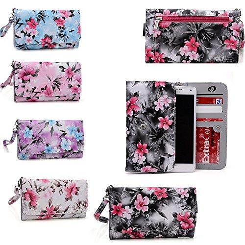 Grey Cell phone wallet phone case Universal design fits: Lenovo A7000|Lenovo P90|Lenovo VIBE X2 Pro