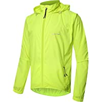 83b156cf6 Outto Men s High Visibility Cycling Jacket Convertible UPF50+ Windproof  Lightweight Windbreaker