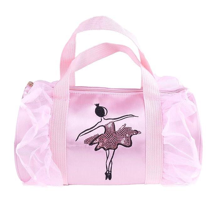 0cded9b6a4b Alvivi Bolsa de Ballet Niña Bolsa Bordada Infantil de Danza con Diseño de  Zapatos de Ballet los Niños Mochila para Las Niñas  Amazon.es  Ropa y  accesorios