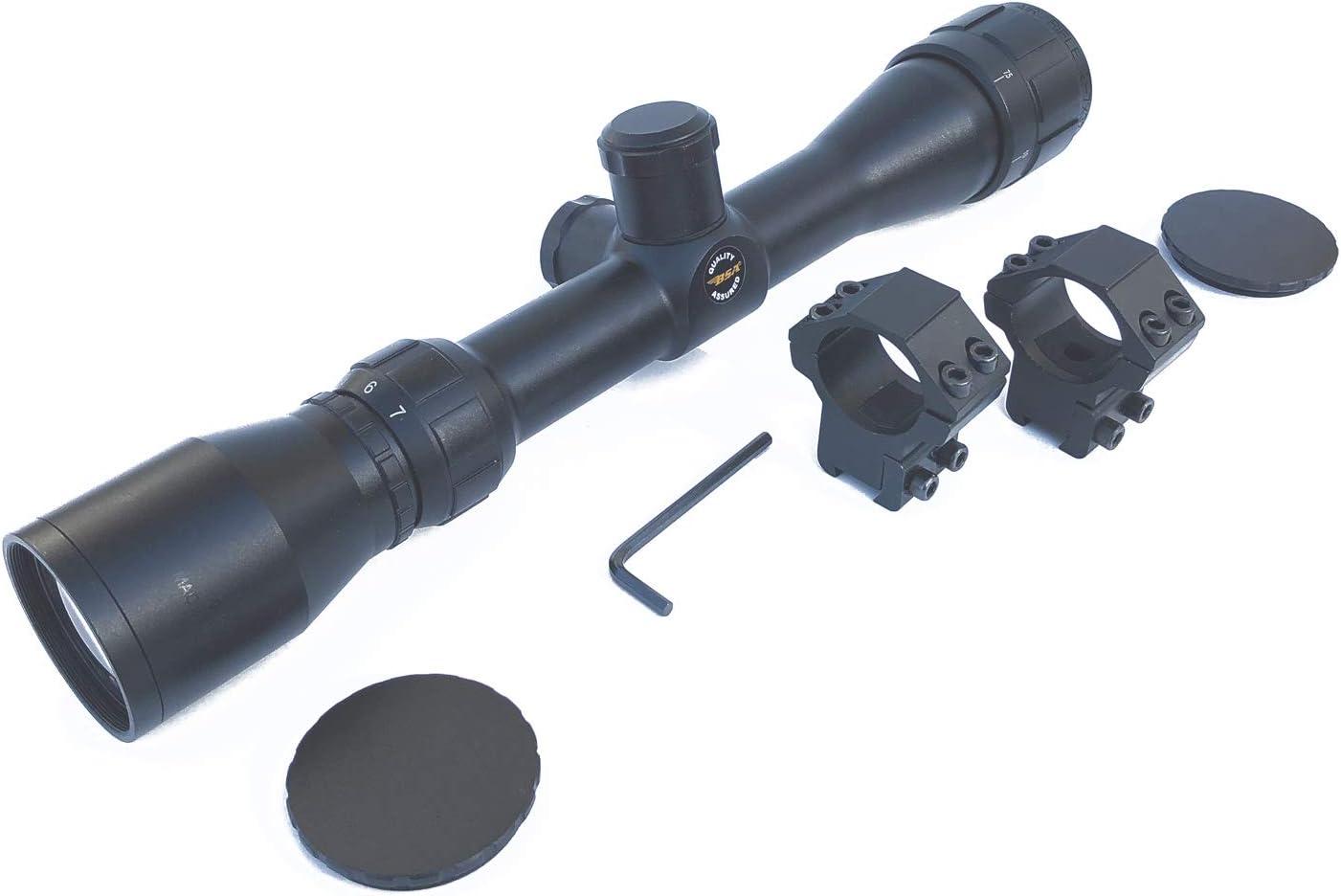 Visor BSA. Mira telescópica con zoom AR27X32. Objetivo ajustable. Especial para tiro deportivo. Monturas incluidas. 46360/3010