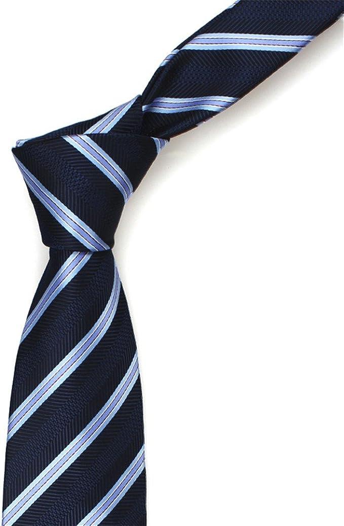 HXCMAN 8cm azul marino cielo azul cuadros rayas corbata diseño ...