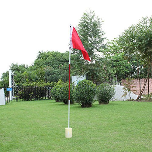 TTnight Golf Flag,Backyard 3 Section Practice Golf Hole Pole