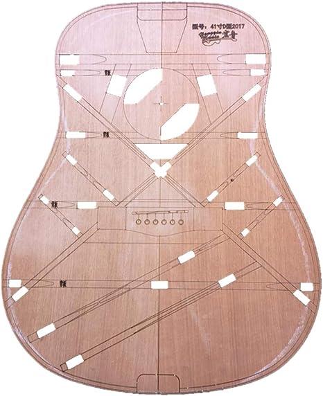 B Baosity 41 Pulgadas De Madera Tipo D Cuerpo Barril Plantilla Guitarra Folklórica Haciendo Molde Herramienta Luthier: Amazon.es: Instrumentos musicales