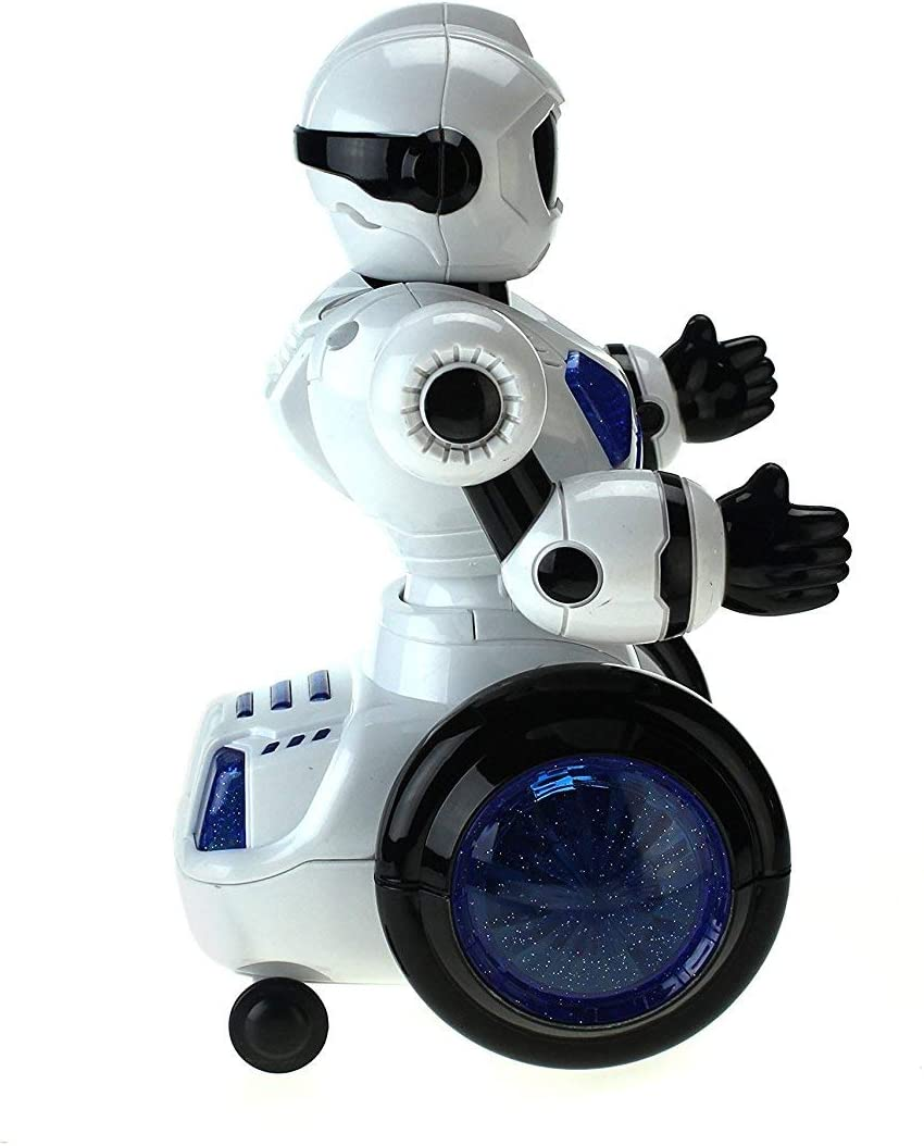 Moving Head Energetic Toy Dancing Robot w// 360 Degree Motion Vapewaves Dancing Robot Swinging Arm Action Chest//Wheel//Tail Lights /& Sounds
