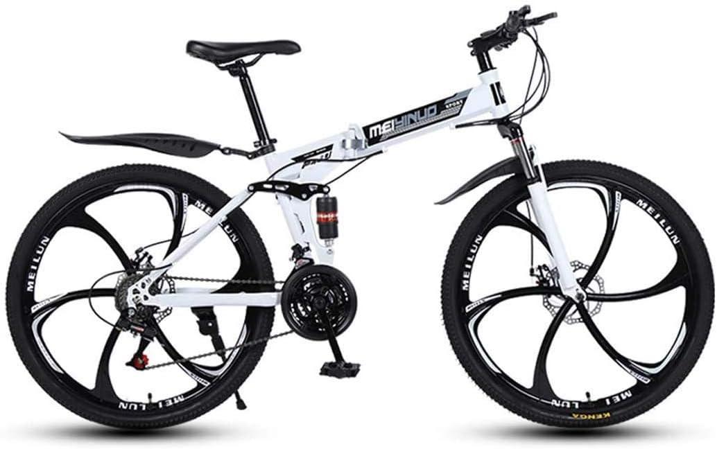 Bicicleta De Montaña para La Edad, Estructura De Suspensión De Aluminio Ligero De 26 Pulgadas Completa, Suspensión Tenedor, Freno De Disco, White,24 Speed: Amazon.es: Hogar