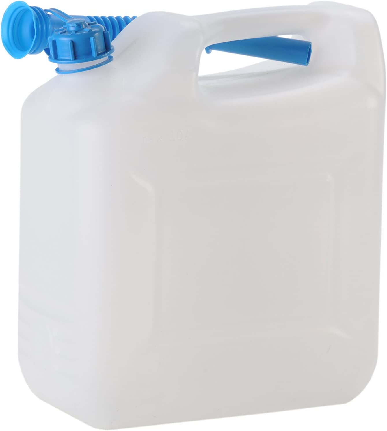 Hünersdorff Bidón para agua ECO 12L con tubo, PEAD Natural, con accesorios azules