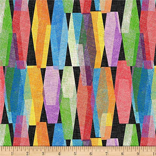 Windham Fabrics Lava Lamp 108'' Wide Back Fabric, Black, Fabric By The -